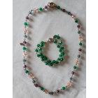 Parure bijoux AGATHA Vert