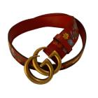 Wide Belt GUCCI Red, burgundy