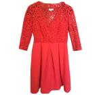 Midi Dress CLAUDIE PIERLOT Red, burgundy