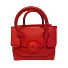 Leather Shoulder Bag VERSACE Red, burgundy