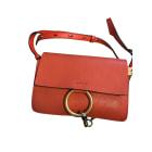 Leather Shoulder Bag CHLOÉ Faye Corail