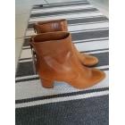 Bottines & low boots à talons MANGO Beige, camel