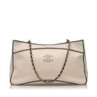 Leather Shoulder Bag CHANEL White