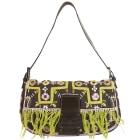 Non-Leather Shoulder Bag FENDI Baguette Brown