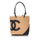 Leather Shoulder Bag CHANEL Brown