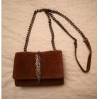 Leather Shoulder Bag ZARA Brown