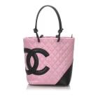 Leather Shoulder Bag CHANEL Pink