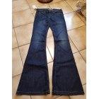 Jeans évasé, boot-cut MANGO Bleu, bleu marine, bleu turquoise