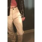 Jeans large, boyfriend STRADIVARIUS Blanc, blanc cassé, écru