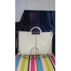 Leather Shoulder Bag ZARA White, off-white, ecru