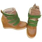 Baskets BEE FLY Jaune et vert