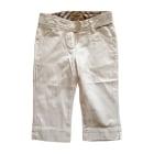 Pants BURBERRY White, off-white, ecru
