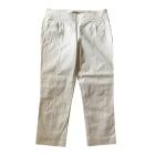 Straight Leg Pants BURBERRY White, off-white, ecru