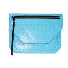Sac pochette en cuir KARL LAGERFELD Bleu, bleu marine, bleu turquoise