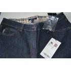 Jeans svasato, boot-cut BURBERRY Blu, blu navy, turchese