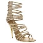 Sandales à talons BALMAIN Doré, bronze, cuivre