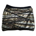 Mini Skirt MAJE Golden, bronze, copper