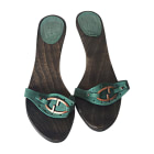 Clogs GUCCI Blue, navy, turquoise