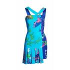 Robe mi-longue VERSACE POUR H&M Bleu, bleu marine, bleu turquoise