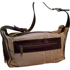 Non-Leather Shoulder Bag DOLCE & GABBANA brun clair et cuir marron foncé