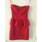 Robe bustier PULL & BEAR Rouge, bordeaux