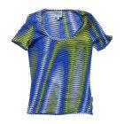 Tops, T-Shirt VERSACE Blau, marineblau, türkisblau