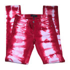 Straight Leg Jeans ISABEL MARANT Red, burgundy