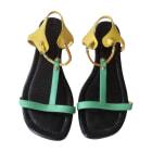 Sandales plates  CHRISTIAN LOUBOUTIN Multicouleur