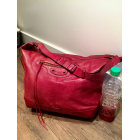 Borsa XL in pelle BALENCIAGA Day Rosso, bordeaux