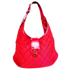 Non-Leather Shoulder Bag BURBERRY Red, burgundy