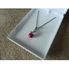 Pendentif, collier pendentif THOMAS SABO Rouge, bordeaux
