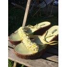 Sandales compensées BEE FLY Vert