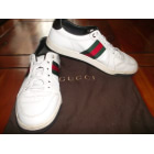 Lace Up Shoes GUCCI White, off-white, ecru