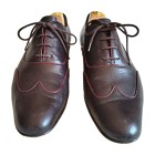 Lace Up Shoes GUCCI Red, burgundy