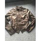 Veste en cuir MORGAN Doré, bronze, cuivre