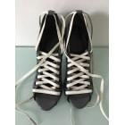 Lace Up Shoes BALENCIAGA Gray, charcoal
