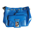 Leather Shoulder Bag KARL LAGERFELD Blue, navy, turquoise