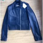 Leather Zipped Jacket BALENCIAGA Blue, navy, turquoise