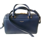 Leather Shoulder Bag SAINT LAURENT Duffle Blue, navy, turquoise