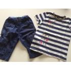 Shorts Set, Outfit IKKS Blue, navy, turquoise