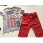 Shorts Set, Outfit IKKS Red, burgundy