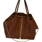 Leather Handbag VALENTINO Brown