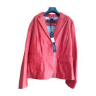Veste en cuir OAKWOOD Rouge, bordeaux