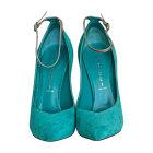Escarpins CASADEI Bleu, bleu marine, bleu turquoise
