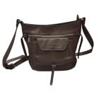 Leather Shoulder Bag LANCASTER Brown