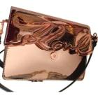Leather Shoulder Bag KARL LAGERFELD Golden, bronze, copper
