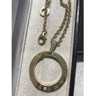 Pendentif, collier pendentif BULGARI Doré, bronze, cuivre