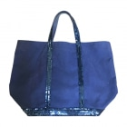 Non-Leather Handbag VANESSA BRUNO Blue, navy, turquoise