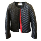 Leather Zipped Jacket CLAUDIE PIERLOT Black
