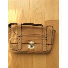 Leather Shoulder Bag CLAUDIE PIERLOT Beige, camel